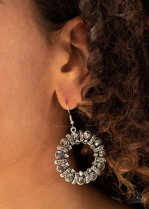 Baby, Its Cold Outside - Silver - Paparazzi Earring Image