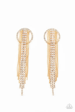 Dazzle by Default - Gold - Paparazzi Earring Image