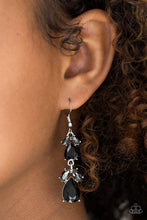 Load image into Gallery viewer, Paparazzi Earrings - Trophy Hall - Black