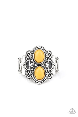 Eco Essence - Yellow - Paparazzi Ring Image