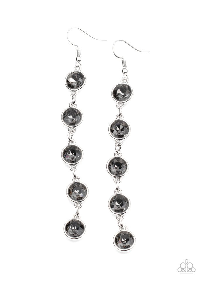 Trickle Down Twinkle - Silver - Paparazzi Earring Image