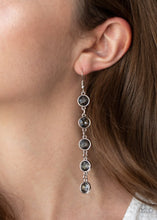 Load image into Gallery viewer, Trickle Down Twinkle - Silver - Paparazzi Earring Image