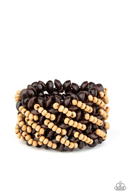 Cozy in Cozumel - Brown - Paparazzi Bracelet Image