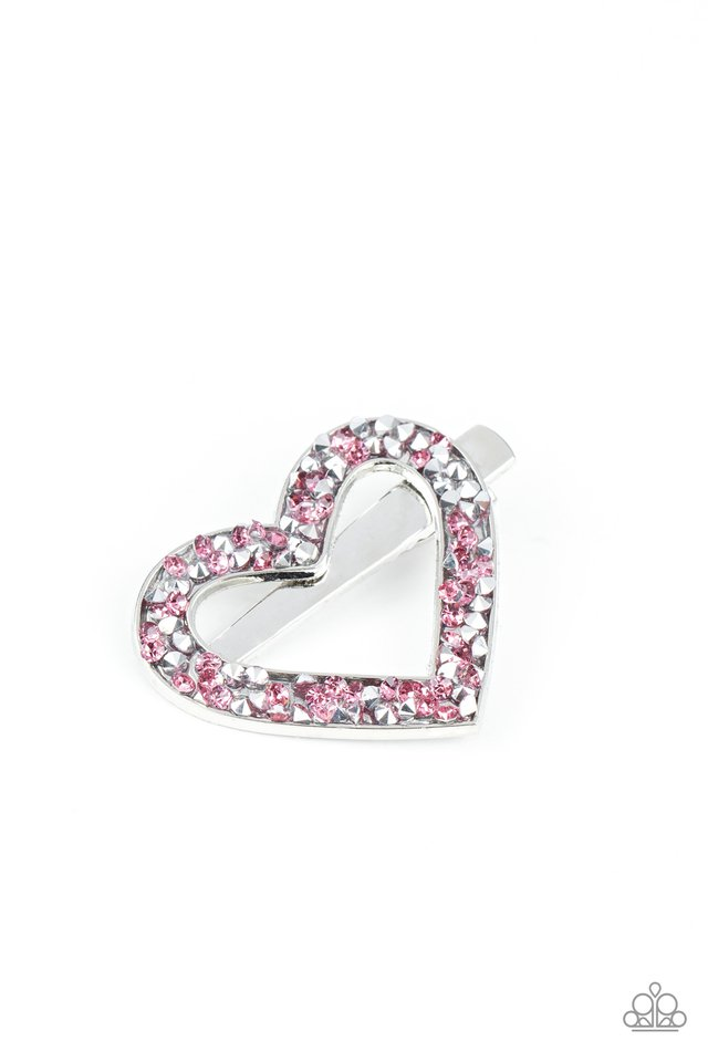 Paparazzi Hair Accessories ~ Love is a Battlefield - Pink