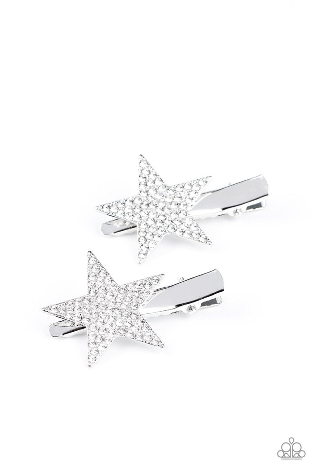 Paparazzi Hair Accessories ~ Give Me a Head-STARt - White