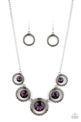 PIXEL Perfect - Purple - Paparazzi Necklace Image