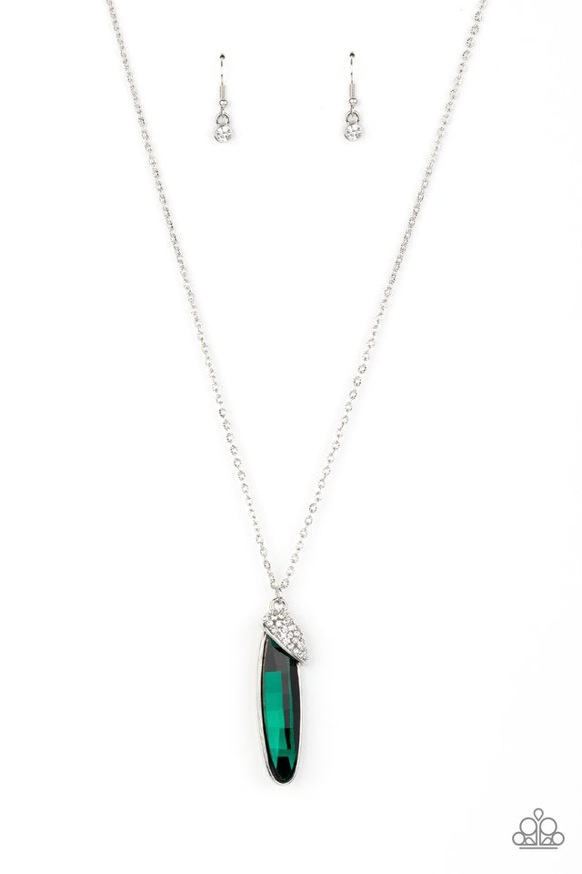 Paparazzi Necklace ~ Spontaneous Sparkle - Green