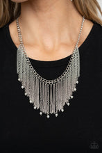 Load image into Gallery viewer, Cue The Fireworks - White - Paparazzi Necklace Image