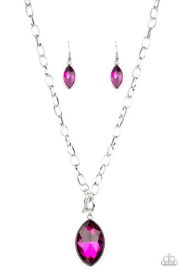 Unlimited Sparkle - Pink - Paparazzi Necklace Image