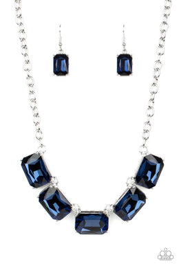 Deep Freeze Diva - Blue - Paparazzi Necklace Image