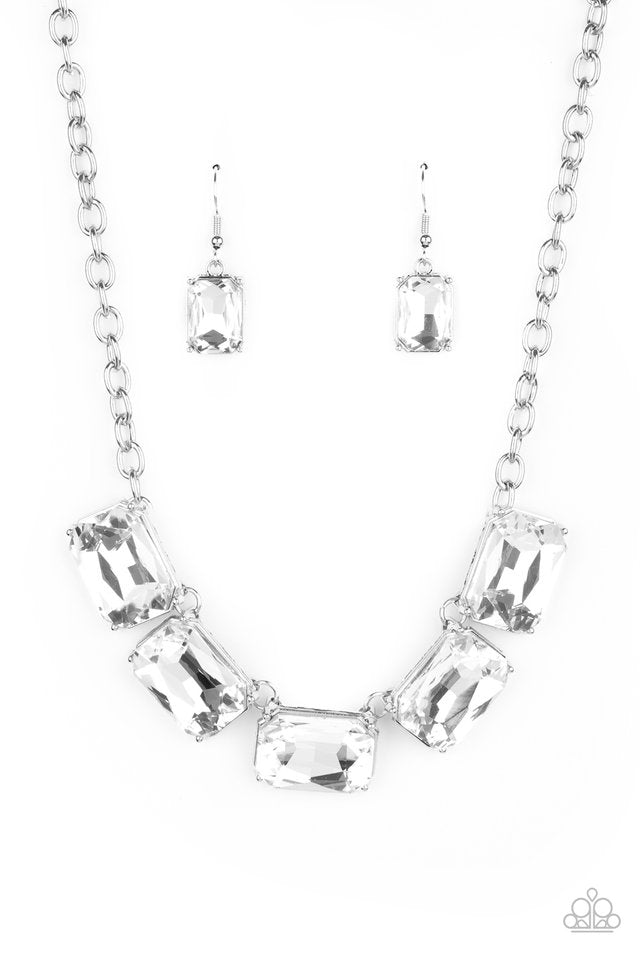 Paparazzi Necklace ~ Deep Freeze Diva - White