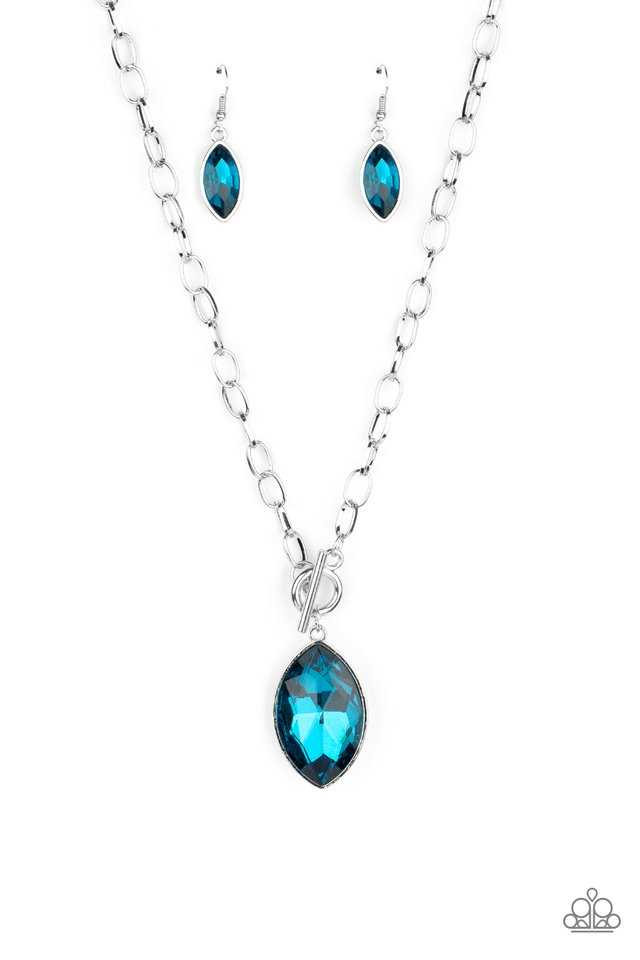 Unlimited Sparkle - Blue - Paparazzi Necklace Image