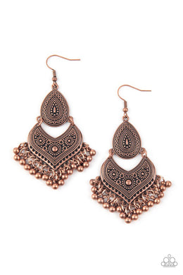 Music To My Ears - Copper - Paparazzi Earring Image