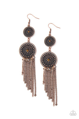 Medallion Mecca - Copper - Paparazzi Earring Image