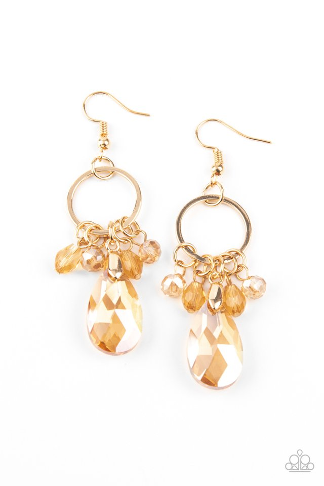 Paparazzi Earring ~ Unapologetic Glow - Gold