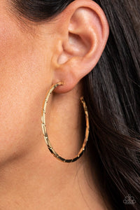 Unregulated - Gold - Paparazzi Earring Image