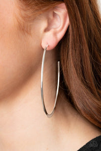 Flatlined - Silver - Paparazzi Earring Image