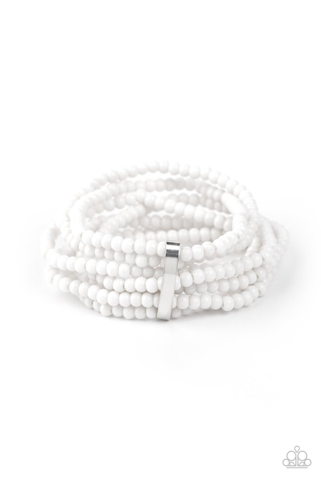 Paparazzi Bracelet ~ Thank Me LAYER - White