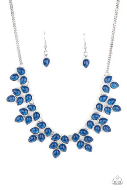 Hidden Eden - Blue - Paparazzi Necklace Image