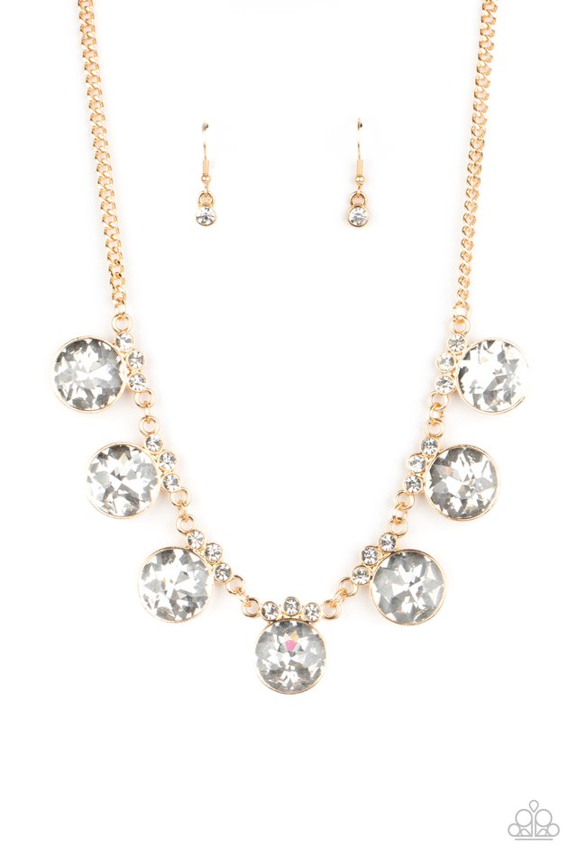 Paparazzi Necklace ~ GLOW-Getter Glamour - Gold