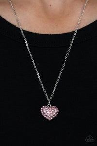 Heart-Warming Glow - Pink - Paparazzi Necklace Image