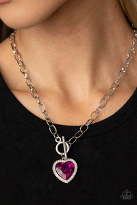 Check Your Heart Rate - Pink - Paparazzi Necklace Image