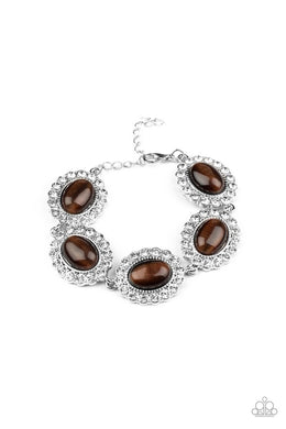 Demurely Diva - Brown - Paparazzi Bracelet Image