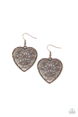 Let Your Heart Grow - Copper - Paparazzi Earring Image