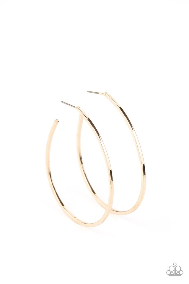 Paparazzi Earring ~ Cool Curves - Gold