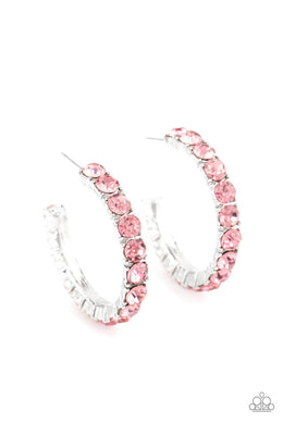 CLASSY is in Session - Pink - Paparazzi Earring Image