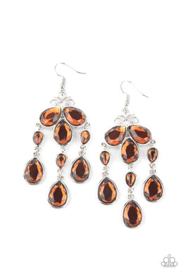 Clear The HEIR - Brown - Paparazzi Earring Image