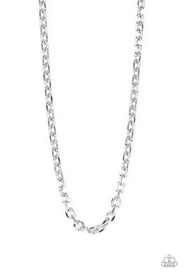 Steel Trap - Silver - Paparazzi Necklace Image