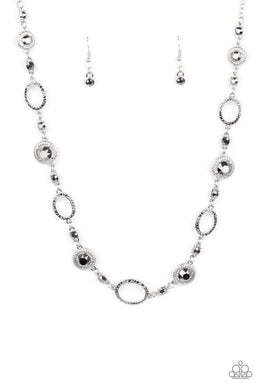 Pushing Your LUXE - Silver - Paparazzi Necklace Image