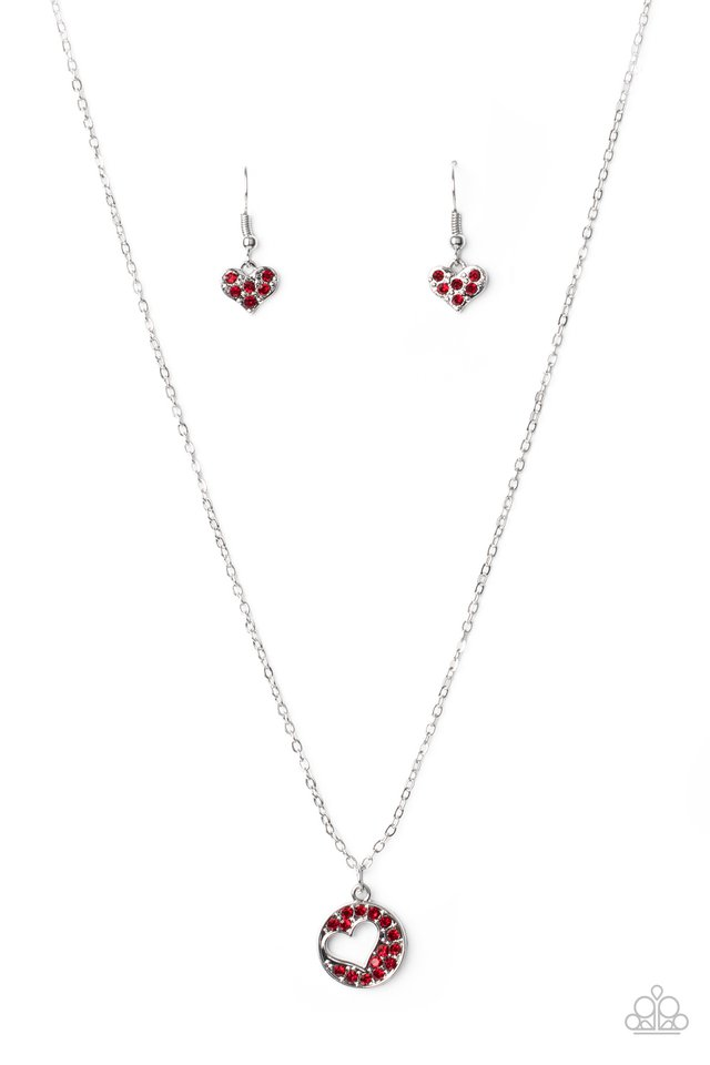 Paparazzi Necklace ~ Bare Your Heart - Red