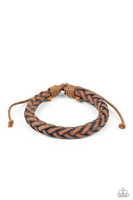Homespun Comfort - Brown - Paparazzi Bracelet Image