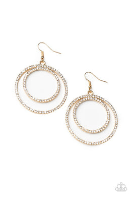 Radiating Refinement - Gold - Paparazzi Earring Image