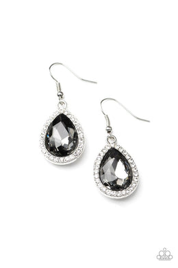 Dripping With Drama - Silver - Paparazzi Earring Image