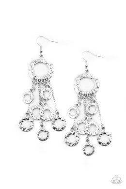Right Under Your NOISE - Silver - Paparazzi Earring Image