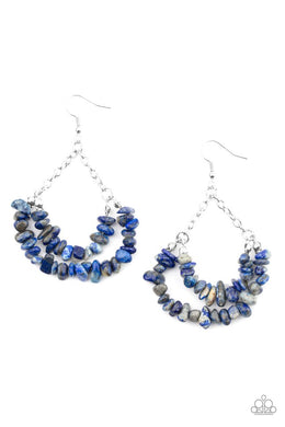 Rainbow Rock Gardens - Blue - Paparazzi Earring Image