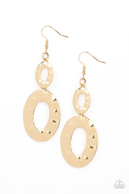 Bring On The Basics - Gold - Paparazzi Earring Image