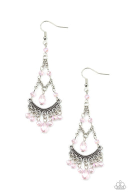 First In SHINE - Pink - Paparazzi Earring Image