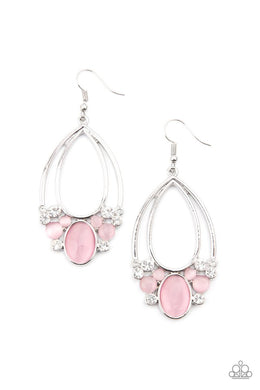 Look Into My Crystal Ball - Pink - Paparazzi Earring Image