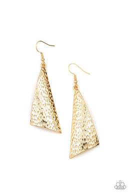 Ready The Troops - Gold - Paparazzi Earring Image