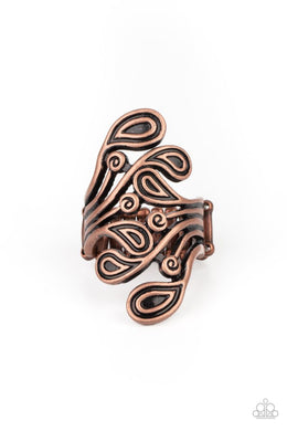 FRILL In The Blank - Copper - Paparazzi Ring Image