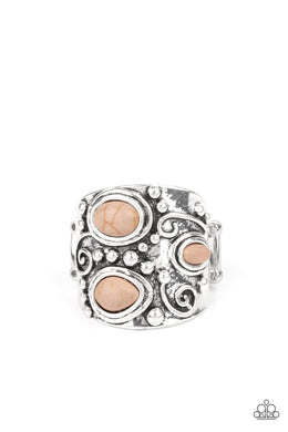 Modern Mountain Ranger - Brown - Paparazzi Ring Image
