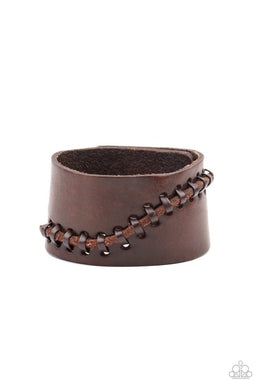 Every STITCH Way - Brown - Paparazzi Bracelet Image