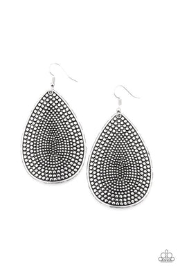 Artisan Adornment - Silver - Paparazzi Earring Image