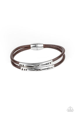 What a WANDER-ful World - Brown - Paparazzi Bracelet Image