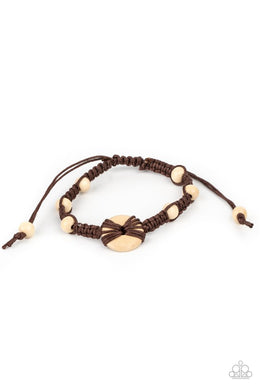 The Road KNOT Taken - Brown - Paparazzi Bracelet Image