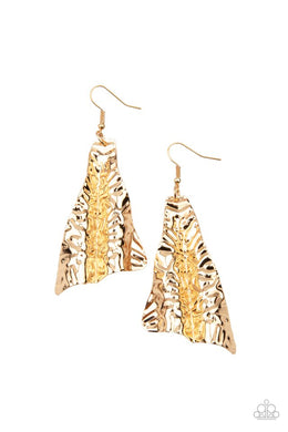 How FLARE You! - Gold - Paparazzi Earring Image